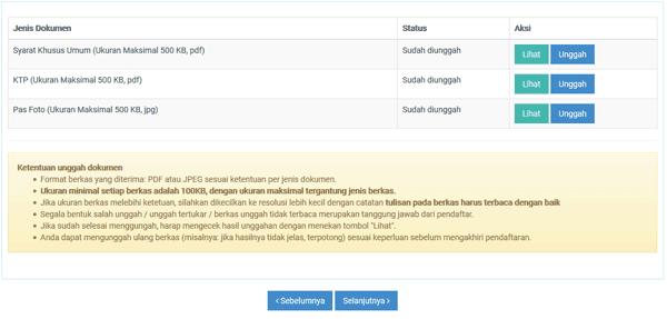 upload berkas pendaftaran cpns