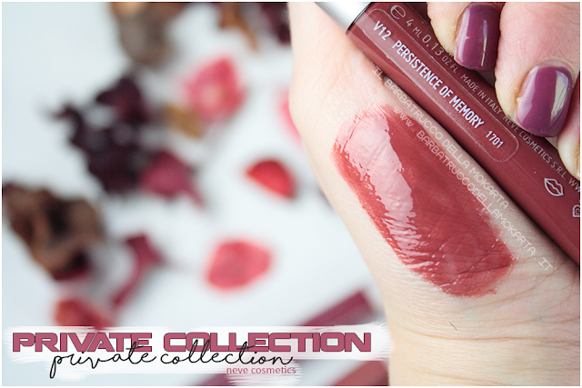 persistence of memory swatches swatch vernissage  gloss neve cosmetics , private collection review recensione
