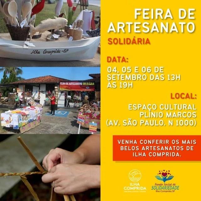Feira de Artesanato Solidária da Ilha Comprida começa no sábado no espaço cultural
