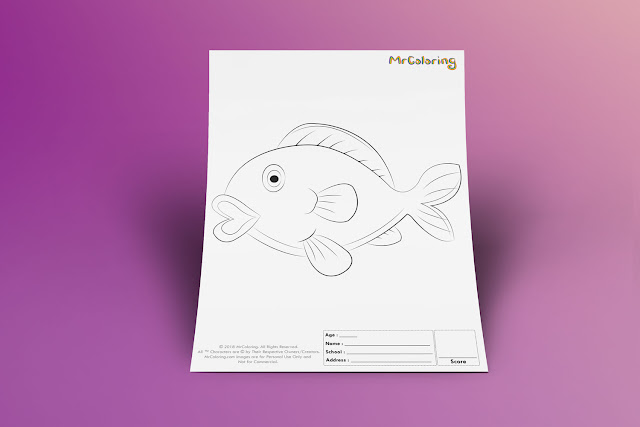 Free Printable freshwater Fish Template Coloriage Outline Blank Coloring Page pdf For Kids Pictures To Print Out Fun Colouring Pages Kindergarten Preschool Toddler 8