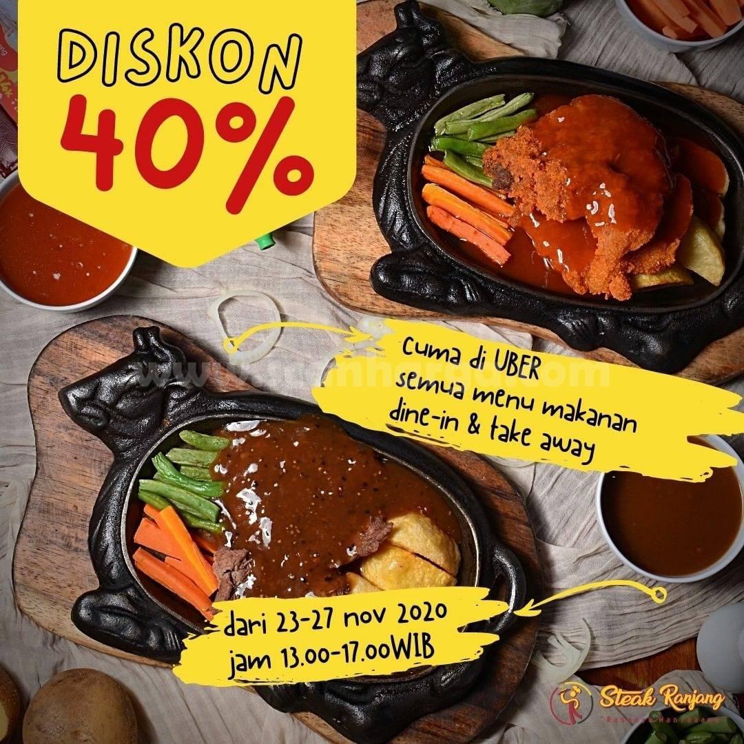 Promo Steak Ranjang Diskon 40% untuk Semua Menu makanan