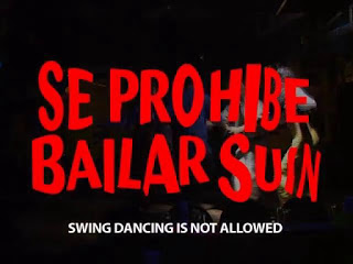 se prohibe bailar suin, swing dancing is not allowed, costa rica, letrero