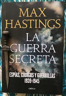 Portada del libro La guerra secreta, de Max Hastings