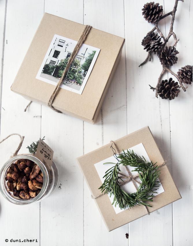Geschenkverpackung Ideen Fotos Erinnerung Weihnachten