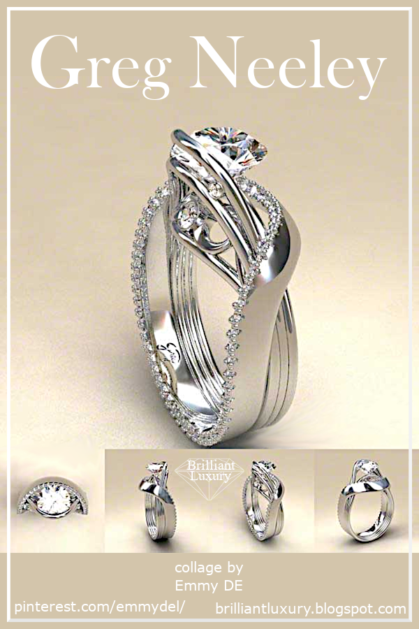 ♦Greg Neeley White Austin 1 Diamond Ring #gregneeley #jewelry #brilliantluxury