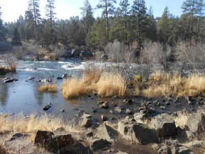 desert river, winter,