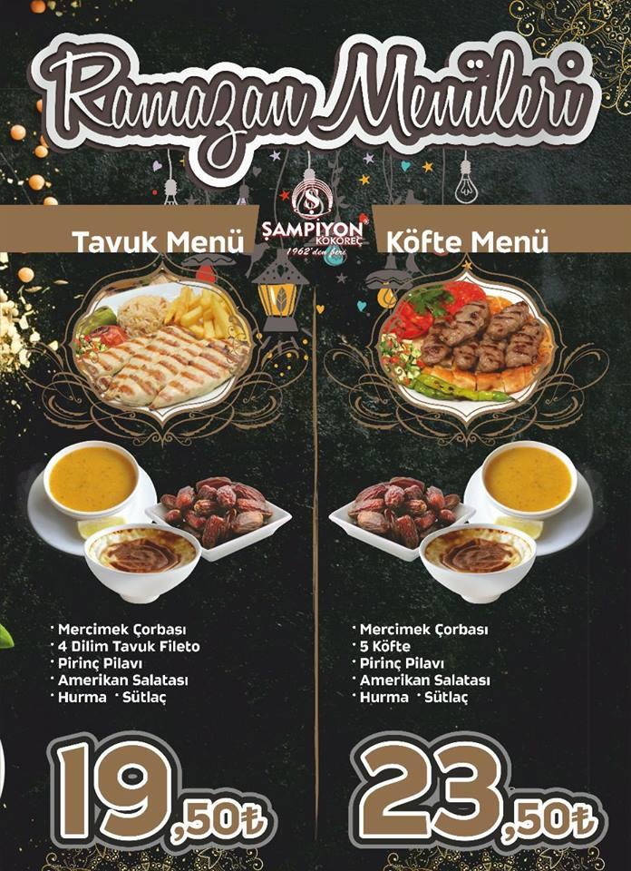 şampiyon kokoreç hunat kayseri iftar menüsü