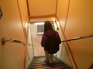 Lépcső az alsó szintre