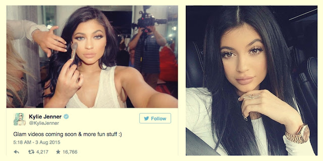 A guide to Kylie's makeup by Peter Minkoff
