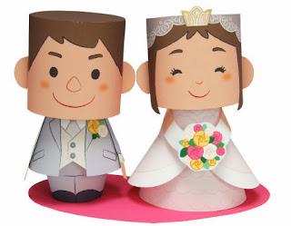 como fazer topo de bolo noivinhos papel imprimir paper craft