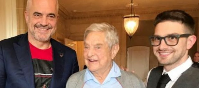 Edi Rama, George Soros and Robert Soros