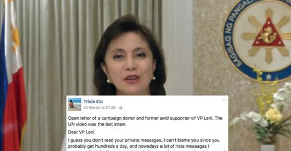 """Campaign donor of Robredo to the Vice President: """"You wasted my hard earned money"""""""