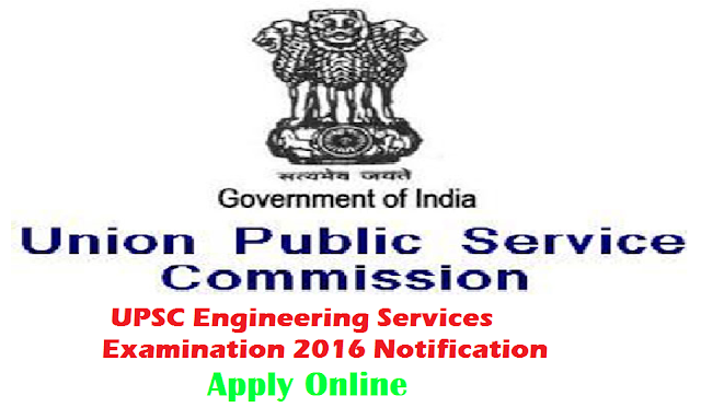 Union Public Service Commission|UPSC Engineering Services Examination 2016| information for UPSC Engineering Services Examination 2016|apply online for UPSC Engineering Services Examination 2016 Union Public Service Commission (UPSC) will conduct Engineering Services Examination for all candidates for the academic year 2016-2017. This Engineering Services Examination consists of two sections i.e. section I and section II. Section I is an objective type and section II has conventional papers. Questions will be asked from engineering subject i.e. Civil or Mechanical or Electrical or Electronics or Telecommunications. Online registration process will start from the date of 03rd August, 2016. Closing date for online registration procedure is 16th August, 2016. The official notification of UPSC Engineering Services Examination 2016 has been uploaded and all details given below. Read full information for UPSC Engineering Services Examination 2016./2016/08/upsc-engineering-services-examination-2016-information-apply-online--for-esc-exam-|online registration for UPSC Engineering Services Examination 2016.html