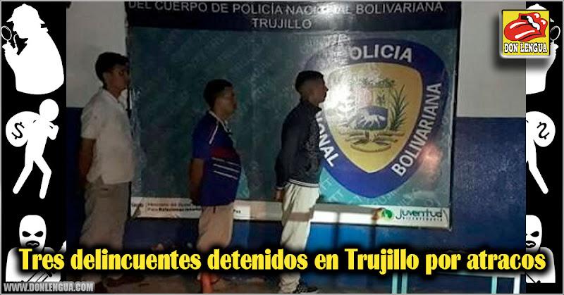 Tres delincuentes detenidos en Trujillo por diversos atracos