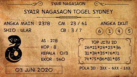Prediksi Togel Sydney Rabu 03 Juni 2020 - Nagasaon
