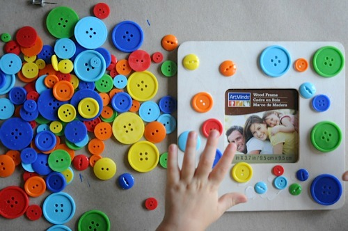 Simple Button Craft Project For Kids