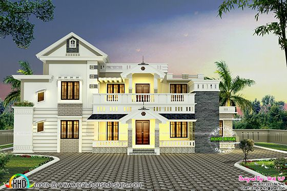 Colonial mix villa without car porch
