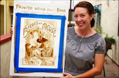 Karen Eland - Ζωγραφική με μπύρα.
