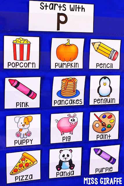 """Letter P activities for preschool or kindergarten that are awesome alphabet picture cards with fun words that kids love to """"read"""" and sort. There are so many games you can play with these!"""