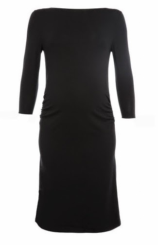 Tessa Black Shift Maternity Dress