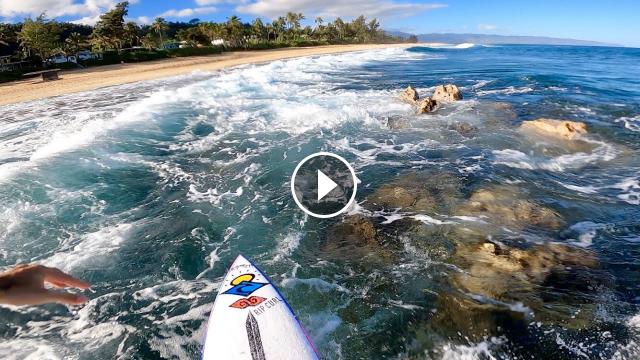 Surfing On Rocks POV Full Experience