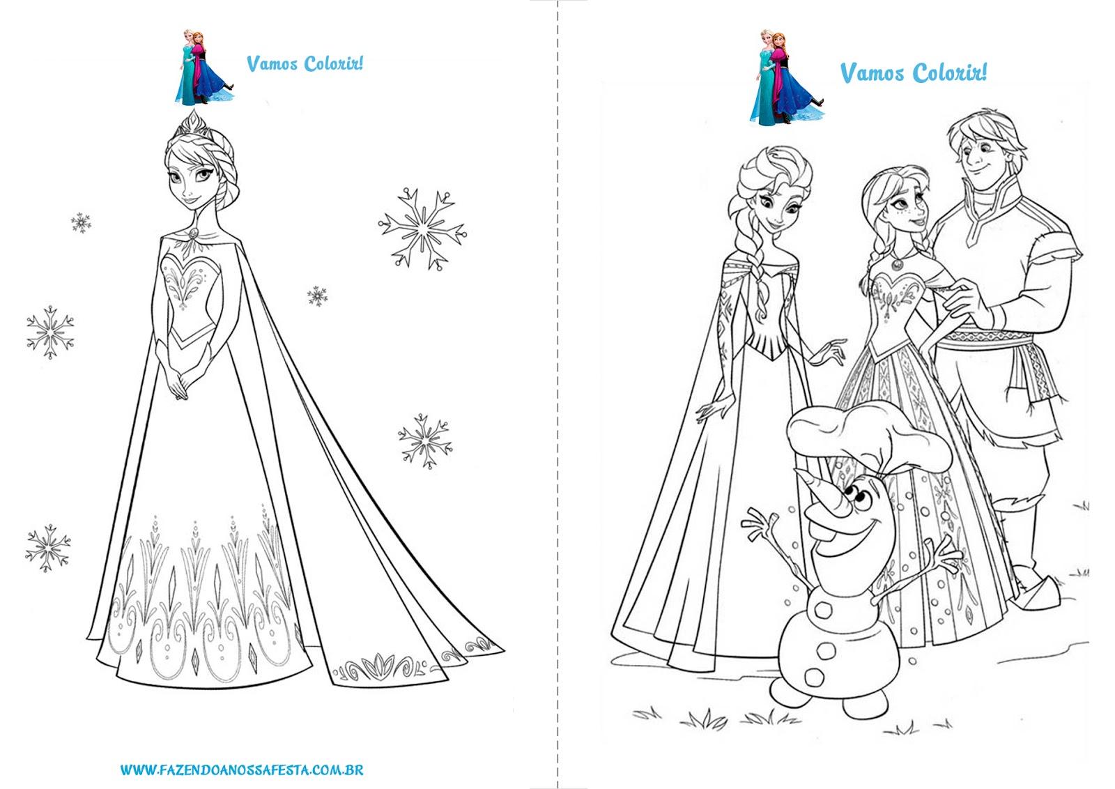 Atividades Escolares Infantis.: Frozen- Desenhos Para Colorir