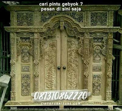 Ukiran Pintu Gebyok Minimalis Cantik