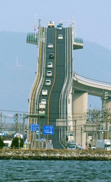 fotos puente Eshima Okhasi en Japón de vértigo