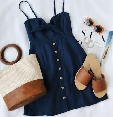 vestido azul 2020