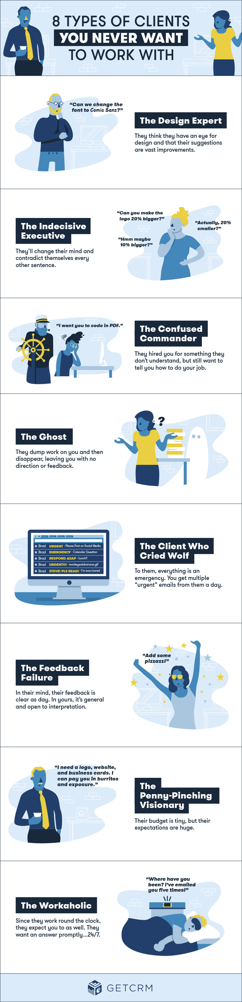 8 Types of Clients to Avoid at All Costs #infographic
