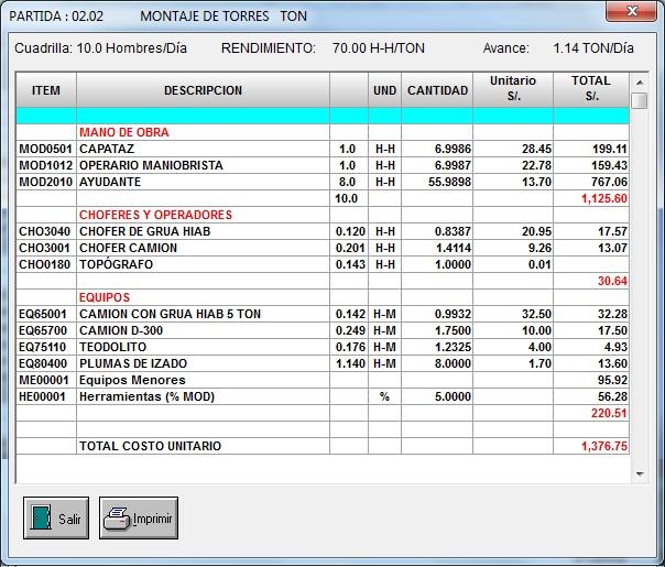 presupuesto para obras mec u00e1nicas