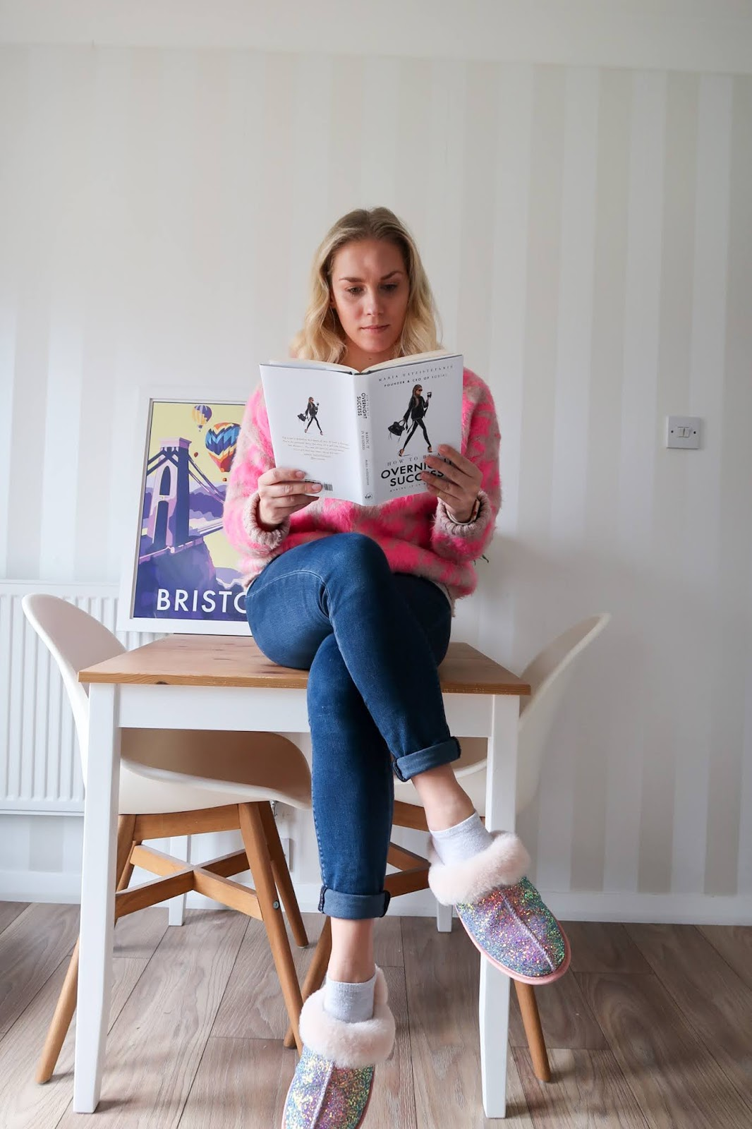 Rachel Emily at home reading
