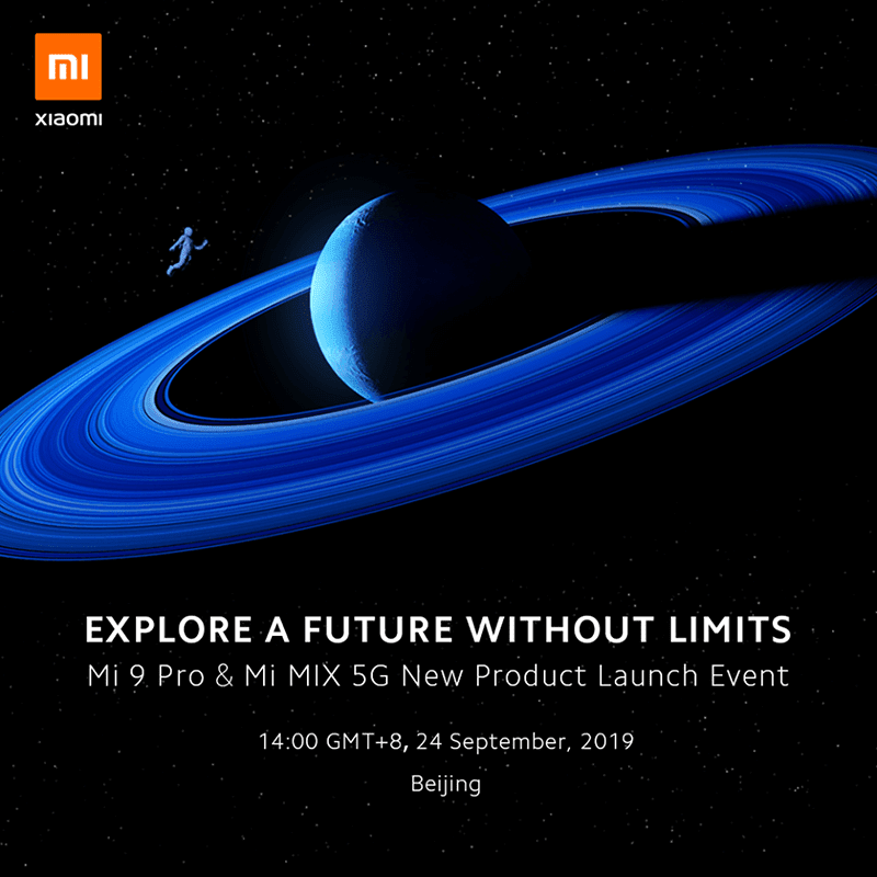 Xiaomi to release Mi 9 Pro and Mi MIX 5G in China on September 24!