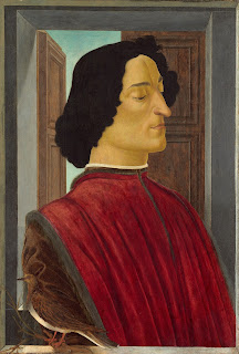 Sandro Botticelli's portrait of Giuliano de' Medici, murdered in the Pazzi conspiracy