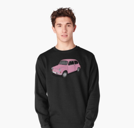Redbubble Fiat 600 t-shirts