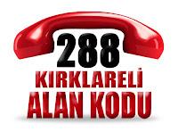 0288 Kırklareli telefon alan kodu