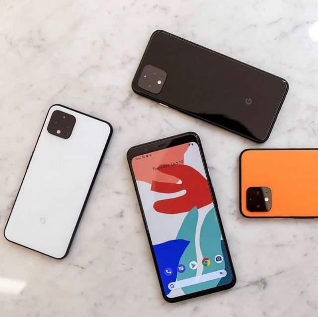 Warna Google Pixel 4 dan Pixel 4 XL Pituh hitam dan Orange