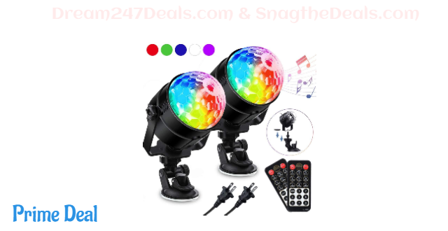 [2-Pack]Party Lights Disco Ball 50% OFF