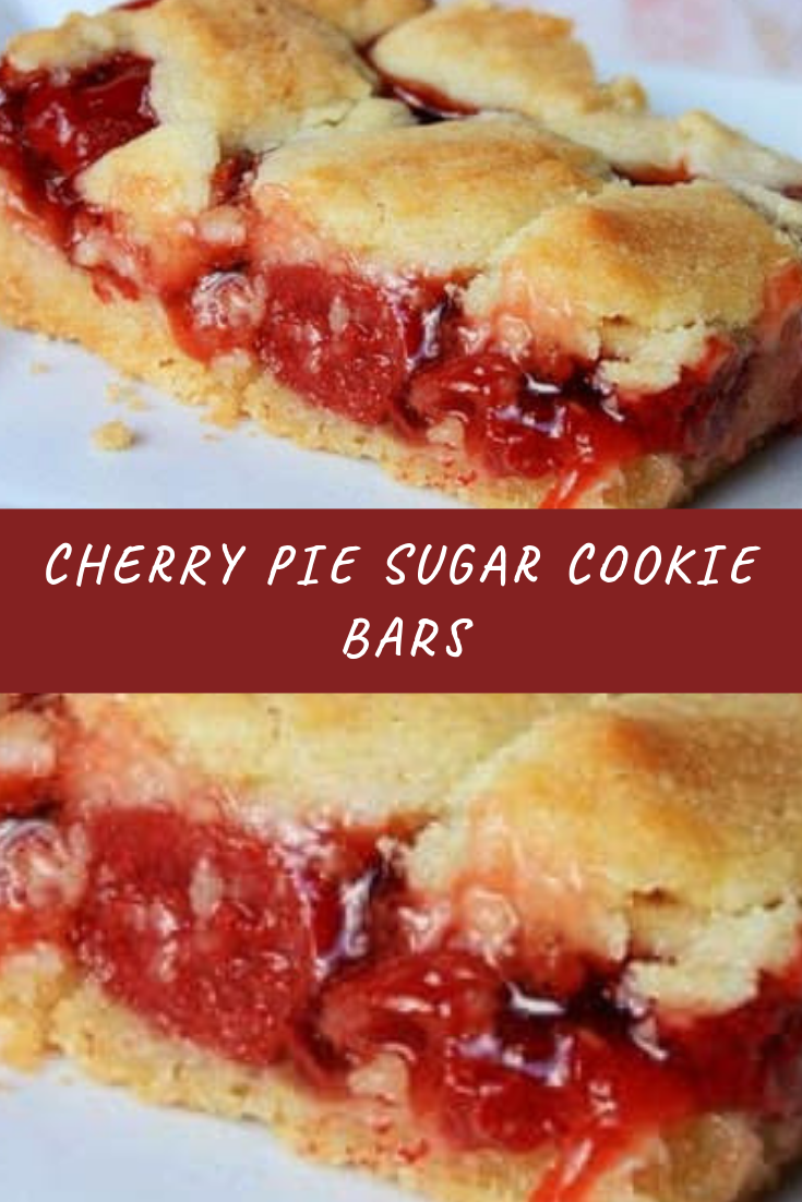 Cherry Pie Sugar Cookie Bars Recipe
