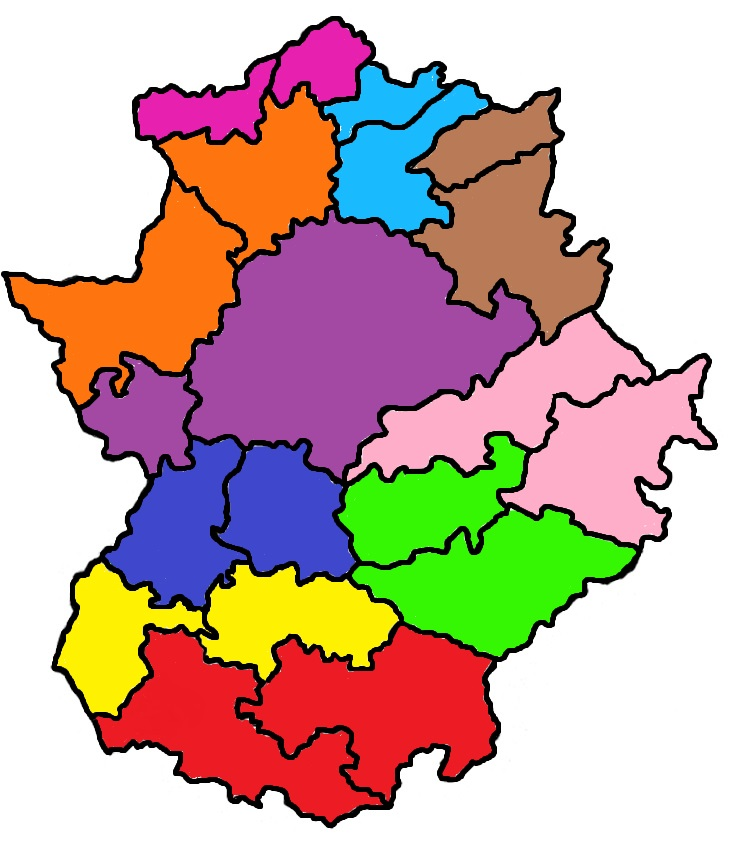 Mapa De Extremadura Comarcas.Biblioteca Montero Mde Infantil