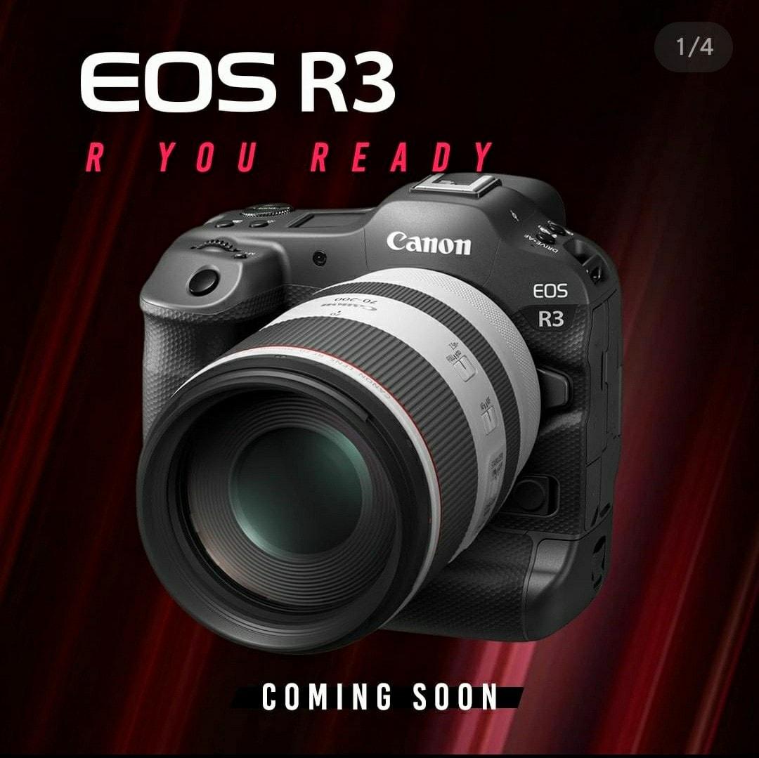 Рекламный баннер Canon EOS R3