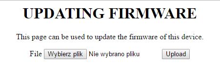 Informacja o możliwości przesłania pliku z aktualizacją oprogramowania w routerze D-Link DIR-869