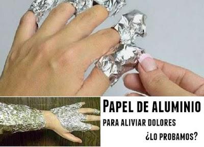 Papel de aluminio para aliviar dolores. Aprendiendo