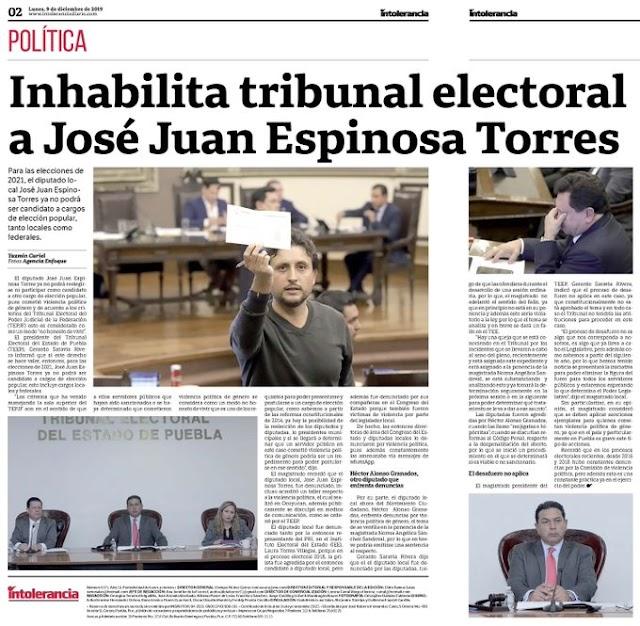 José Juan no será candidato en el 2021