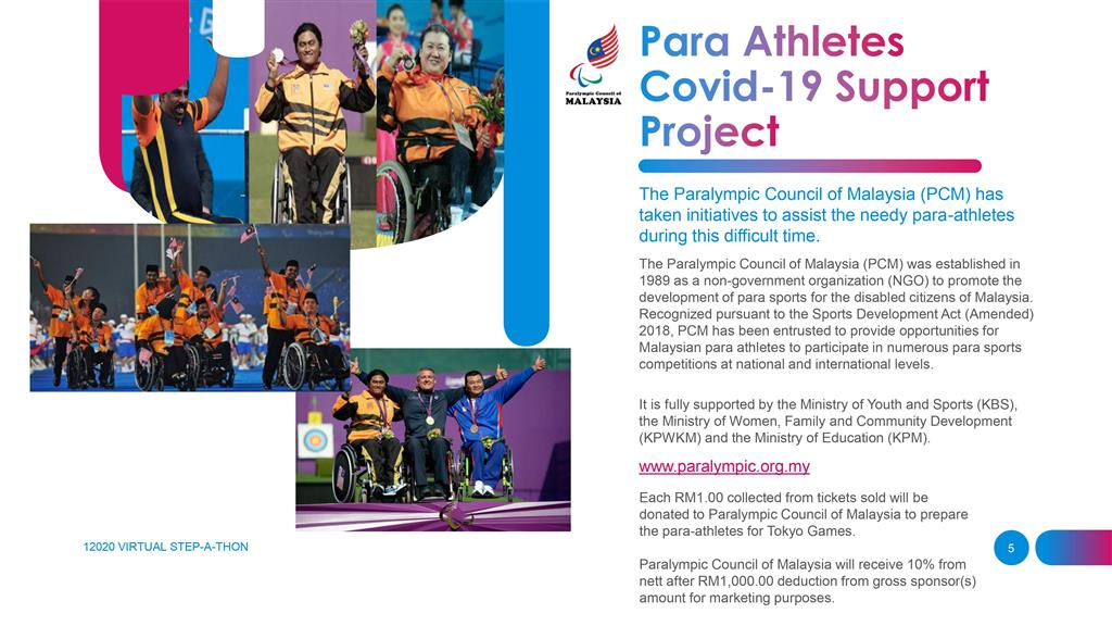 12020 Virtual Stepathon Challenge | Para Athletes Covid19 Support Project