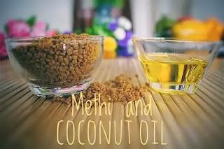 Methi or fenugreek seed and coconut oil