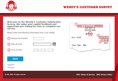 wendy customer survey