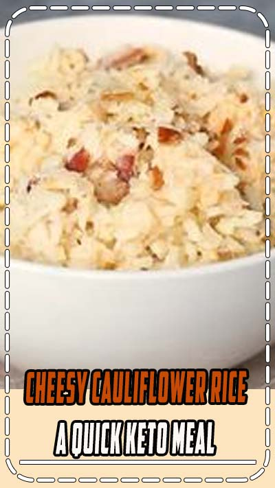 Only five simple ingredients and less than ten minutes are needed to whip up a delicious cheesy cauliflower rice. It makes a perfect keto meal. // keto dinner recipes // keto recipes // keto dinner easy // dinner ideas keto // substitute for rice // cauliflower recipe // easy cauliflower rice // best low carb meal // low carb quick meal // low carb meal recipes // #glutenfree #lowcarbrecipes #keto #ketorecipes #lchf #mealideas #ketomealplan #lowcarbmeals #cauliflowerrice #cauliflower