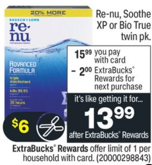 FREE Renu CVS Coupon Deal 1-3-1-9