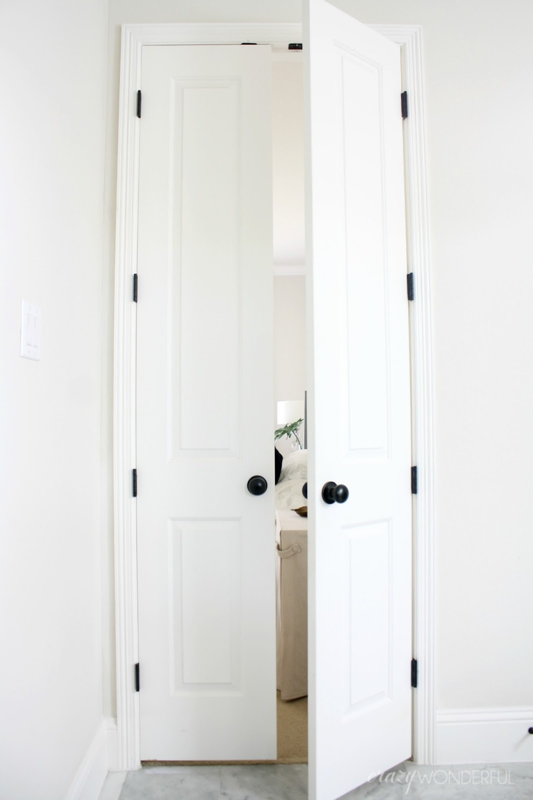 open double doors. While There Was Technically Nothing Wrong With The Old Hinges (they Did Open And Shut), I Just Wasn\u0027t A Fan Of Them Being Painted. Here Are Double Doors